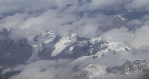 Mt everest принятый от самолета в Непале Стоковое Фото