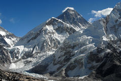 Mt.Everest. With Khumbu glacier. December view Royalty Free Stock Image