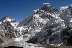 Mt.Everest. With Khumbu glacier. December view Royalty Free Stock Photos