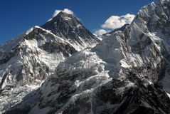 Mt.Everest. With Khumbu glacier. December view royalty free stock images