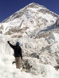 MT Everest Basecamp Stock Foto's