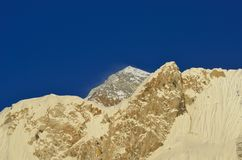 Mt_Everest_blue_sky royalty free stock photo