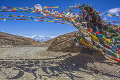 Mt. Everest and flannelette temple Royalty Free Stock Images
