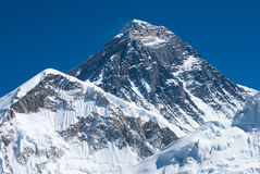 Mt. Everest from Kala Pala Patthar, Nepal. The summit of Mount Everest Stock Photo