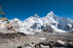 Mt. Everest from Kala Patthar, Nepal. View of Everest and Khumbu Glacier from the Kala Patthar summit Stock Photography