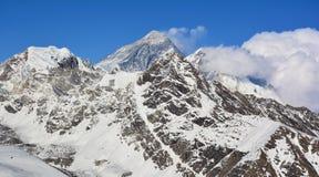 Mt Everest 8848 M högst toppmöte i världen Royaltyfri Fotografi