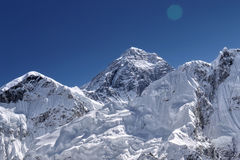 Mt. Everest - 8848 m. Highest mountain in the world. Himalayas, Nepal Royalty Free Stock Images