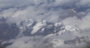 Mt everest preso dall'aereo nel Nepal Fotografia Stock
