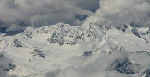 Mt everest pris de l'avion au Népal photographie stock libre de droits