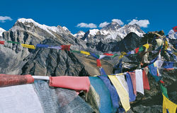 Mt. Everest Range from Gokyo Kalapatthar, Nepal Royalty Free Stock Images