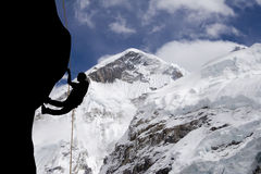 Mt Everest Ridge ocidental fotografia de stock royalty free