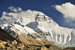 Mt Everest from Tibetan basecamp Stock Photos