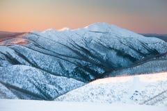 Mt Feathertop fotografia stock