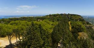 Mt. Filerimos - acrópolis de Ialyssos Foto de archivo libre de regalías