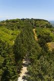 Mt. Filerimos - acropoli di Ialyssos Immagini Stock