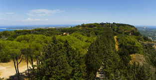 Mt. Filerimos - Acropolis de Ialyssos Foto de Stock Royalty Free