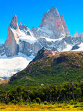 Mt Fitz Roy in Patagonia, South America. Famous Mt Fitz Roy in Los Glaciares National Park, Patagonia, Argentina, South America royalty free stock image