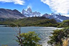 Mt. Fitzroy in El Chaltén stock image