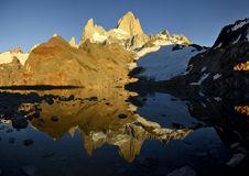 Mt Fitztroy Reflects Royalty Free Stock Photo