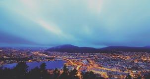 Mt Floyen à Bergen, Norvège Photographie stock