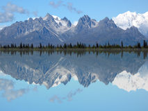 Mt. Foraker And Grand Tokosha Reflection In A Lake Royalty Free Stock Photos