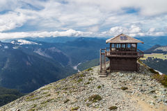 Mt Freemont utkik i Mt Rainier National Park Washington Royaltyfri Bild