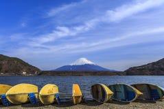 Mt.fuji на озере седзи Стоковые Изображения