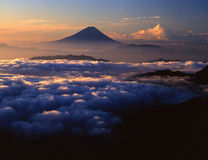 Mt, Fuji-126. Sun rise moning of South Alps in Japan Stock Images