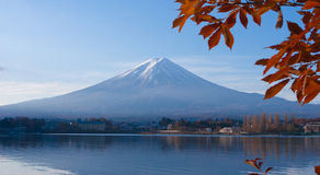 Mt Fuji in autumn, Japan stock images
