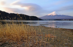 Mt. Fuji. In morning time stock images