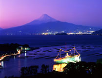 Mt fuji-196. Mt,fuji and evning harbour in west Izu Stock Photography
