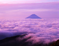 Mt fuji-372. Majestic Mount Fuji rising up through a sea of clouds Stock Photography