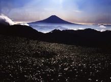 Mt fuji-398. The view Mt,Fuji from far Japanese South Alps in summer Stock Image