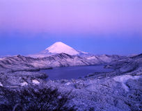 Mt fuji-427. Snowfall early morning view Mt,Fuji from Mt,Hakone peak Royalty Free Stock Photography