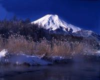 Mt fuji-444. A brisk Japanese winter landscape Stock Images