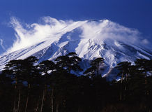 Mt fuji. By the sudden gusts of wind, Mt,fuji has been rough Stock Images