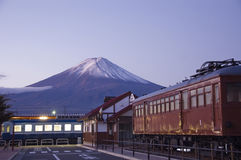 Mt Fuji all'alba. fotografia stock libera da diritti