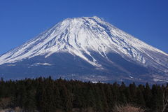 Mt. Fuji from Asagiri. This photo is taken in the early spring Royalty Free Stock Photo