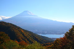 Mt. Fuji in autumn Royalty Free Stock Photos