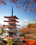 Mt. Fuji in Autumn Royalty Free Stock Photography