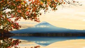 Mt. Fuji and autumn foliage at Lake Kawaguchi. Mt. Fuji and autumn foliage at Lake Kawaguchi in japan Stock Image