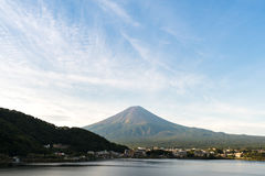 Mt. Fuji in autumn at Lake Kawaguchiko Yamanashi, Japan Royalty Free Stock Image