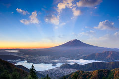 Mt. Fuji Autumn Sunrise Royalty Free Stock Images