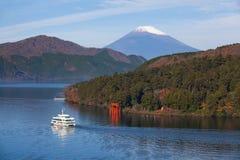 Mt. Fuji. Beautiful Lake ashi and mt. Fuji in autumn season royalty free stock photos