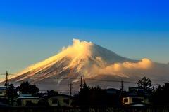 Mt.Fuji. Beautiful landscape Japan lake , Mt'Fuji sunset Stock Photos