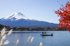MT Fuji bij meer Kawaguchiko Royalty-vrije Stock Foto