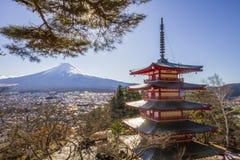 Mt. Fuji with Chureito Pagoda Royalty Free Stock Image