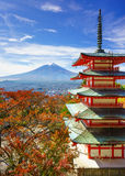 Mt. Fuji with Chureito Pagoda, Fujiyoshida, Japan. Mt. Fuji with Chureito Pagoda in autumn, Fujiyoshida, Japan Royalty Free Stock Photos