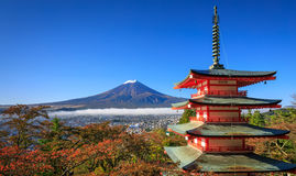 Mt. Fuji with Chureito Pagoda, Fujiyoshida, Japan. Mt. Fuji with Chureito Pagoda in autumn, Fujiyoshida, Japan Stock Image