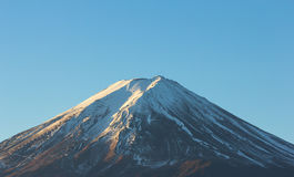 MT fuji closeup on blue sky Royalty Free Stock Photo